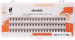 Düfte, Parfümerie und Kosmetik Wimpernbüschel-Set C 8 mm - Ibra 20 Flares Eyelash Knot Free Naturals
