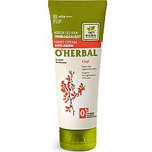 Düfte, Parfümerie und Kosmetik Verjüngende Handcreme mit Gojibeeren-Extrakt - O'Herbal Rejuvenating Hand Cream With Goji Berry Extract
