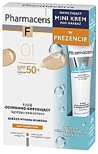 Düfte, Parfümerie und Kosmetik Make-up Set - Pharmaceris (Foundation 30ml + Creme mit Hyaluronsäure 15ml)