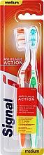 Düfte, Parfümerie und Kosmetik Zahnbürste mittel orange, grün 2 St. - Signal Anti-Plaque Duo