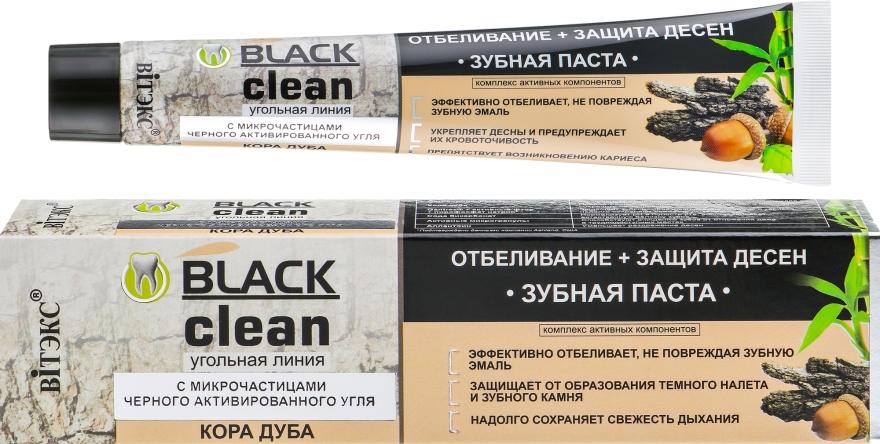 Zahnfleischschützende und aufhellende Zahnpaste mit schwarzer Aktivkohle - Vitex Black Clean