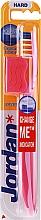 Düfte, Parfümerie und Kosmetik Zahnbürste mit Schutzkappe hart Advanced rosa-weiß - Jordan Advanced Toothbrush