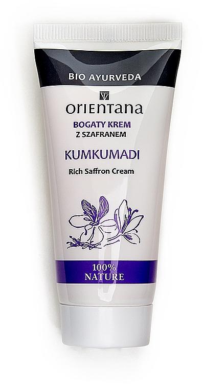 Reichhaltige Gesichtscreme mit Safran - Orientana Rich Saffron Cream