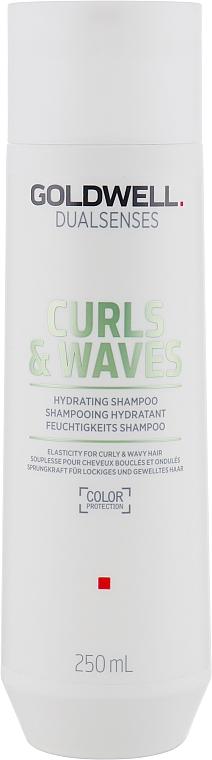 Feuchtigkeitsspendendes Shampoo für lockiges und welliges Haar - Goldwell Dualsenses Curls & Waves Hydrating Shampoo