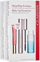 Düfte, Parfümerie und Kosmetik Make-up Set (Mascara 8ml + Makeup-Entferner 50ml + Lipgloss 12ml) - Clarins Wonder Perfect Mascara 4D Set