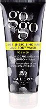 Düfte, Parfümerie und Kosmetik 2-in-1 Shampoo & Duschgel für Männer - Kallos Cosmetics Go-Go 2-in-1 Energizing Hair And Body Wash For Men