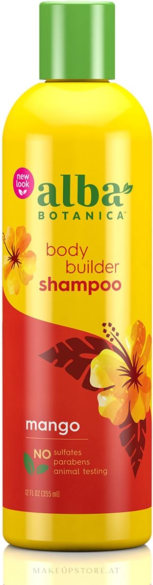 Haarshampoo mit tropischen Extrakten für mehr Volumen - Alba Botanica Natural Hawaiian Shampoo Body Builder Mango — Bild 355 ml