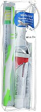 Düfte, Parfümerie und Kosmetik Zahnpflegeset - White Glo Travel Pack (Zahnpasta 24g + Grüne Zahnbürste 1 St. + Zahnstocher 8 St.)
