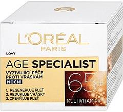 Düfte, Parfümerie und Kosmetik Anti-Falten Nachtcreme 65+ - L'Oreal Paris Age Specialist Restoring Day Anti Wrinkle Cream