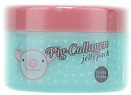 Düfte, Parfümerie und Kosmetik Beruhigende und regenerierende Nachtmaske für das Gesicht mit Kollagen - Holika Holika Pig-Collagen Jelly Pack