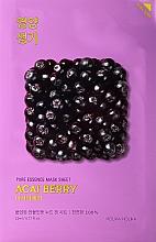Düfte, Parfümerie und Kosmetik Tuchmaske für das Gesicht mit Acai-Beerenextrakt - Holika Holika Pure Essence Mask Sheet Acai Berry