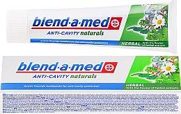 Düfte, Parfümerie und Kosmetik Zahnpasta Anti-Cavity Herbal - Blend-a-med Anti-Cavity Herbal Natural
