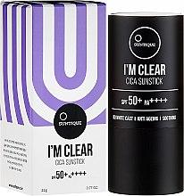 Düfte, Parfümerie und Kosmetik Anti-Aging Sonnenschutz-Stick für das Gesicht LSF 50 - Suntique I'm Clear Cica Sunstick SPF50+/PA+++