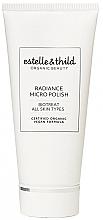 Düfte, Parfümerie und Kosmetik Gesichtspeeling mit schwarzem Bio Holunder und Mikrokristallen für strahlende Haut - Estelle & Thild Biotreat Radiance Micro Polish