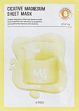 Düfte, Parfümerie und Kosmetik Pflegende Tuchmaske für empfindliche Haut mit Magnesium - A'pieu Cicative Magnesium Sheet Mask