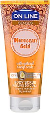 Düfte, Parfümerie und Kosmetik Glättendes Körperpeeling - On Line Senses Body Scrub Moroccan Gold