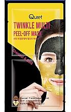 Düfte, Parfümerie und Kosmetik Peel-Off Gesichtsmaske mit Aktivkohle und Gold - Quret Twinkle Multi Peel-Off Mask