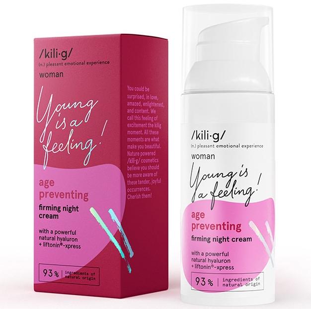 Straffende Nachtcreme mit Hyaluronsäure - Kili·g Woman Age Preventing Night Cream