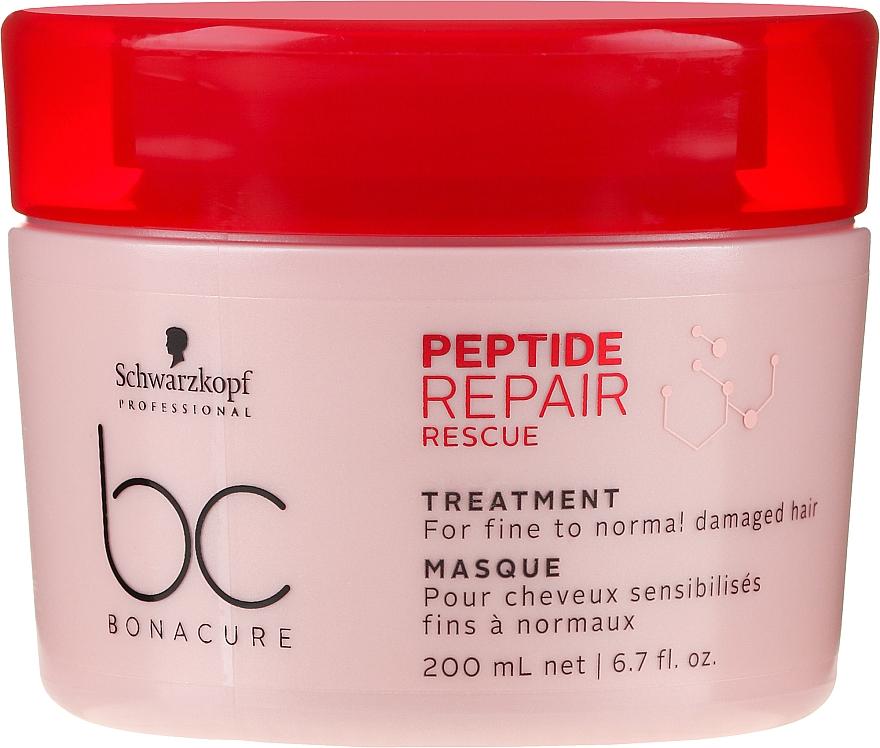 Aufbauende Intensivkur für feines, normales und geschädigtes Haar - Schwarzkopf Professional BC Bonacure Peptide Repair Rescue Treatment Mask