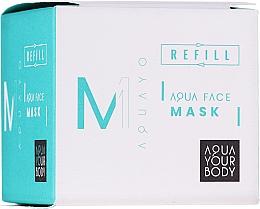 Düfte, Parfümerie und Kosmetik Feuchtigkeitsspendende Gesichtsmaske - AQUAYO Aqua Face Mask (Refill)