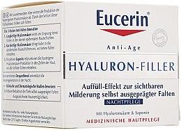 Düfte, Parfümerie und Kosmetik Nachtcreme mit Auffüll-Effekt mit Hyaluronsäure und Saponin - Eucerin Hyaluron-Filler Night