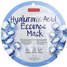 Düfte, Parfümerie und Kosmetik Feuchtigkeitsspendende beruhigende und vitalisierende Tuchmaske für das Gesicht mit Hyaluronsäure, Kollagen und Vitamin E - Purederm Hyaluronic Acid Essence Mask