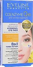 Düfte, Parfümerie und Kosmetik Hydrogel Augenpatches mit Q10 und Anti-Falten-Effekt - Eveline Cosmetics Coenzyme Q10 Eye Pads 8in1