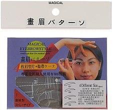 Düfte, Parfümerie und Kosmetik Augenbrauenschablonen Größe B1, B2, B3, B4 - Magical Eyebrow Style