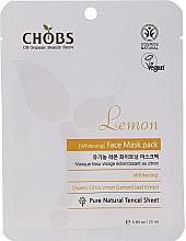 Düfte, Parfümerie und Kosmetik Aufhellende Tuchmaske mit Zitronenextrakt - Chobs Lemon Mask Pack
