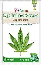 Düfte, Parfümerie und Kosmetik Regenerierende Detox Gesichtsmaske mit Hanföl und Tonerde - 7th Heaven CBD Infused Cannabis Clay Face Mask
