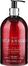 """Düfte, Parfümerie und Kosmetik Flüssige Handseife """"Schöllkraut"""" - Baylis & Harding Black Pepper & Ginseng Hand Wash"""