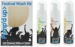 Düfte, Parfümerie und Kosmetik Körperpflegeset - Pump'd Up Festival Kit (Shampoo 70ml + Antibakterielles Duschgel 70ml + Handdesinfektionsmittel 70ml)