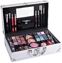Düfte, Parfümerie und Kosmetik Kosmetikkoffer - Cosmetic 2K Fabulous Beauty Train Case Complete Makeup Palette