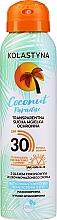 Düfte, Parfümerie und Kosmetik Transparenter trockener Sonnenschutznebel für Körper und Gesicht SPF 30 - Kolastyna Coconut Paradise SPF30