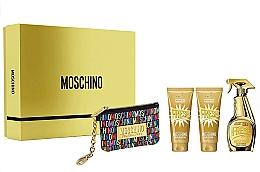 Düfte, Parfümerie und Kosmetik Moschino Gold Fresh Couture - Duftset (Eau de Parfum 100ml + Körperlotion 100ml + Duschgel 100ml + Kosmetiktasche)