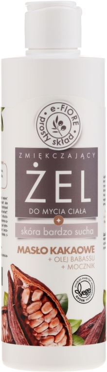 Aufweichendes Duschgel für trockene Haut mit Kakaobutter und Harnstoff - E-Fiori