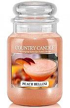 Düfte, Parfümerie und Kosmetik Duftkerze im Glas Peach Bellini - Country Candle Peach Bellini