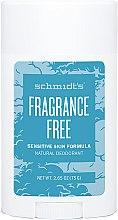 Düfte, Parfümerie und Kosmetik Natürlicher Deostick für empfindliche Haut - Schmidt's Deodorant Sensitive Skin Fragrance Free Stick