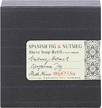 Düfte, Parfümerie und Kosmetik Bath House Spanish Fig and Nutmeg - Rasierseife mit Glycerin, Muskatnuss- und Feigenextrakt (Refill)