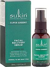 Düfte, Parfümerie und Kosmetik Regenerierendes Gesichtsserum für strahlende Haut - Sukin Super Greens Facial Recovery Serum