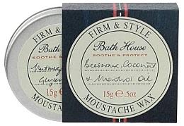 Düfte, Parfümerie und Kosmetik Beruhigendes und schützendes Bart- und Schnurrbartwachs - Bath House Menthol Snorwax
