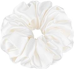 Düfte, Parfümerie und Kosmetik Scrunchie-Haargummi aus Naturseide milchweiß Largy - Makeup Largy Scrunchie Milk