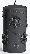 Düfte, Parfümerie und Kosmetik Dekorative Kerze schwarz 7x18 cm - Artman Snowflake Application