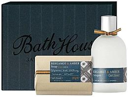 Düfte, Parfümerie und Kosmetik Bath House Bergamot & Amber - Duftset (Eau de Cologne 100ml + Seife 150g)