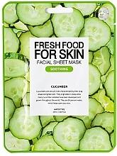 Düfte, Parfümerie und Kosmetik Feuchtigkeitsspendende pflegende und beruhigende Tuchmaske mit Gurkenextrakt für alle Hauttypen - Superfood For Skin Facial Sheet Mask Cucumber Soothing