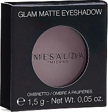 Düfte, Parfümerie und Kosmetik Matter Mono-Lidschatten - Mesauda Milano Glam Matte Eye Shadow