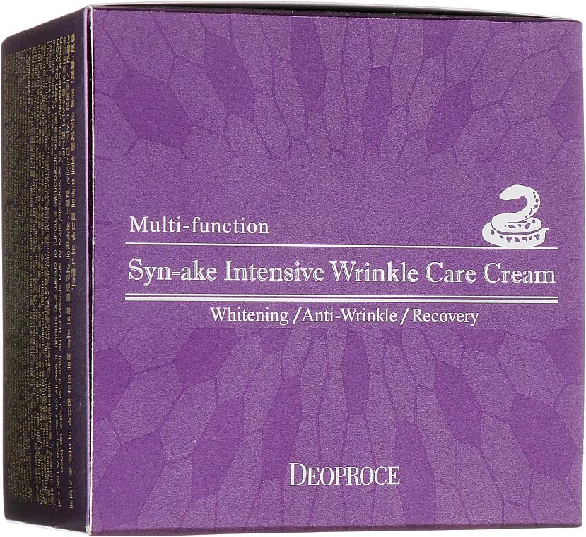 Anti-Falten Gesichtscreme mit Grüntee- und Aloeextrakt - Deoproce Syn-Ake Intensive Wrinkle Care Cream
