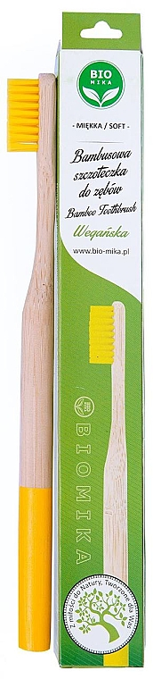 Bambuszahnbürste weich gelb - Biomika Natural Bamboo Toothbrush