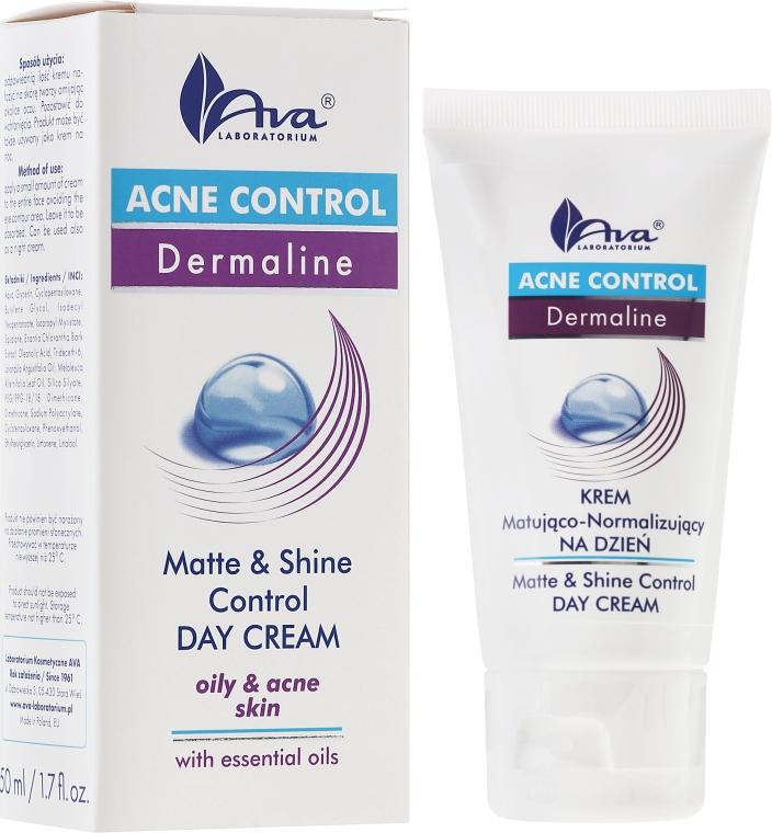Mattierende Tagescreme für fettige und zu Akne neigende Haut - Ava Laboratorium Acne Control Matt & Shine Day Cream
