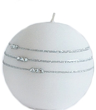 Düfte, Parfümerie und Kosmetik Dekorative Kerze in Kugelform Kolia 8 cm weiß - Artman Candle Kolia